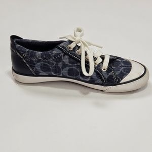 Coach barrett blue and white sneakers size 7
